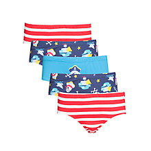 Buy John Lewis Boy Skull Briefs, Pack of 5, Red/Blue Online at johnlewis.com