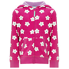 Buy John Lewis Girl Bold Flower Zip Through Hoodie Online at johnlewis.com