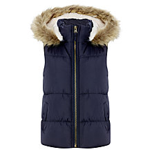 Buy John Lewis Girl Gilet, Navy Blue Online at johnlewis.com