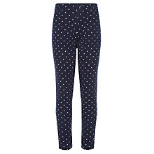 Buy John Lewis Girl Spot Leggings, Navy Online at johnlewis.com