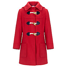 Buy John Lewis Girl Hooded Duffel Coat, Red Online at johnlewis.com