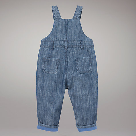 Buy John Lewis Baby Dungarees, Chambray Online at johnlewis.com