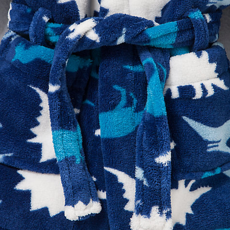 Buy John Lewis Dinosaur Robe, Blue Online at johnlewis.com