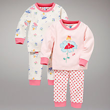 Buy John Lewis Fairy Pyjamas, Pack of 2, Pink Online at johnlewis.com