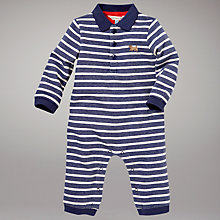 Buy John Lewis Baby Footless Striped Sleepsuit, Blue/White Online at johnlewis.com