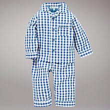 Buy John Lewis Gingham Pyjamas, Blue Online at johnlewis.com