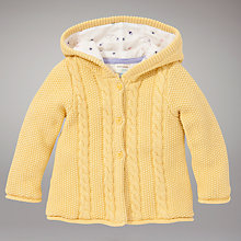 Buy John Lewis Hooded Cardigan, Yellow Online at johnlewis.com