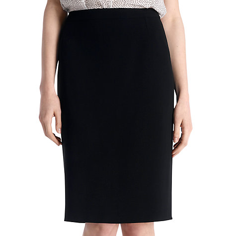 Buy Jigsaw Flute Back Skirt, Black Online at johnlewis.com