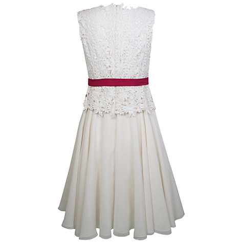 Buy Kaliko Floral Lace Prom Dress, Ivory Online at johnlewis.com