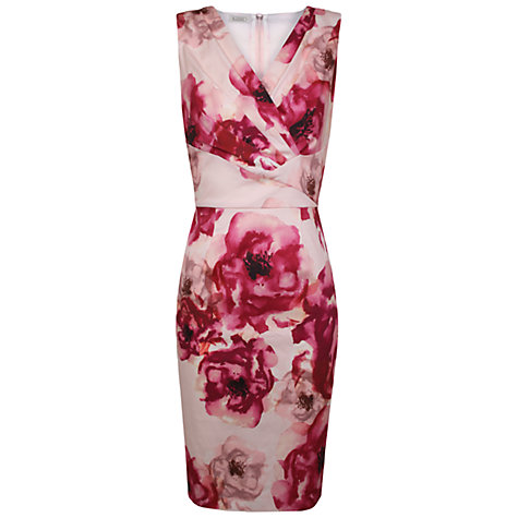 Buy Kaliko Peony Shift Dress, Pink/Multi Online at johnlewis.com