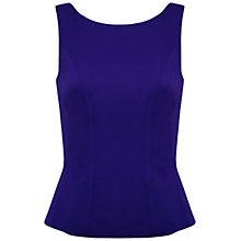 Buy Kaliko Peplem Top, Bright Blue Online at johnlewis.com