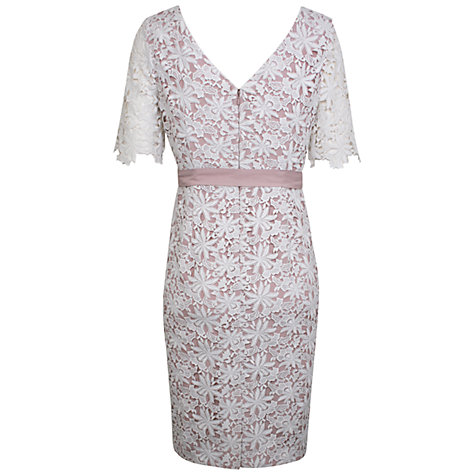 Buy Kaliko Floral Lace Shift Dress, Ivory Online at johnlewis.com