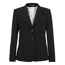Buy Jigsaw Fine Wool Summer Blazer, Black Online at johnlewis.com