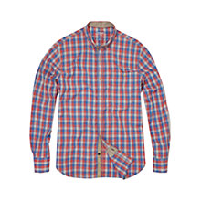 Buy French Connection Multi Check Shirt, Red/Blue Online at johnlewis.com