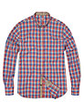 French Connection Multi Check Shirt, Red/Blue