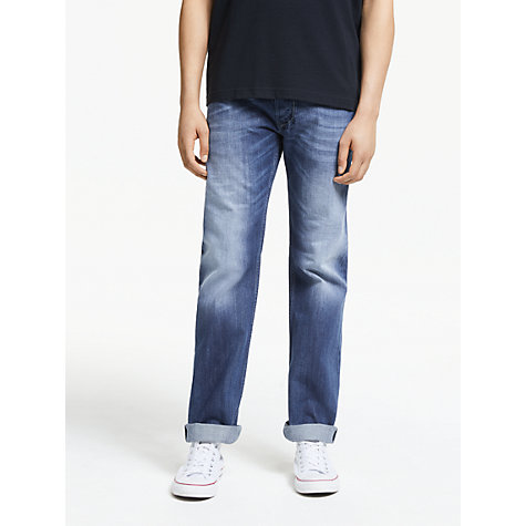 Buy Diesel Larkee 8XR Straight Leg Jeans, Blue Online at johnlewis.com