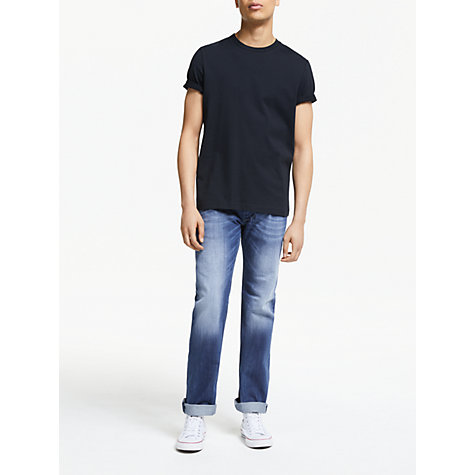 Buy Diesel Larkee 8XR Straight Jeans, Blue Online at johnlewis.com