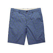 Buy Ben Sherman Staples Check Tailored Shorts, Blue Depths Online at johnlewis.com