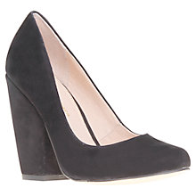 Buy KG by Kurt Geiger Allure Chunky Block Heel Court Shoes, Black Online at johnlewis.com