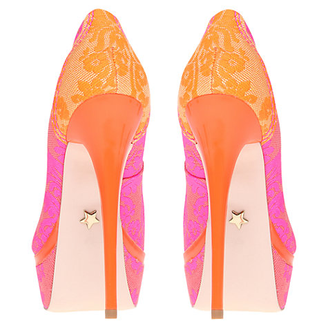 Buy KG by Kurt Geiger Kactus Brocade Fabric Studded Court Shoes, Pink Online at johnlewis.com