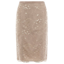 Buy Coast Arabella Lace Skirt, Neutral Online at johnlewis.com