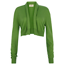 Buy Havren Cashmere Blend Shrug Cardigan, Green Online at johnlewis.com