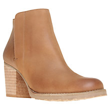 Buy Kurt Geiger Soda Leather Block Heel Ankle Boots, Brown Online at johnlewis.com