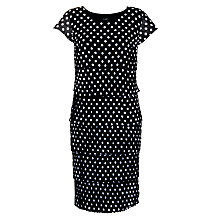 Buy Gerry Weber Crinkle Ruffle Dress, Navy Spot Online at johnlewis.com
