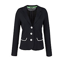 Buy Gerry Weber Contrast Trim Jacket, Navy Online at johnlewis.com