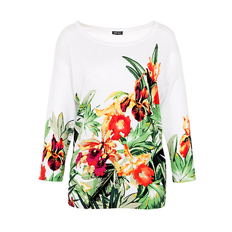 Buy Gerry Weber Placement Print Jumper, White Online at johnlewis.com