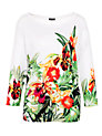 Buy Gerry Weber Placement Print Jumper, White, 16 Online at johnlewis.com
