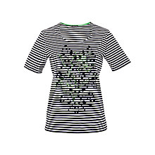 Buy Gerry Weber Stripe Embroidered T-Shirt, Multi Online at johnlewis.com