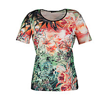 Buy Gerry Weber Tropical Print Mesh T-Shirt, Multi Online at johnlewis.com