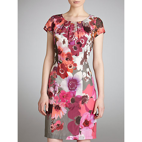 Buy Gerry Weber Cotton Floral Dress, Multi Online at johnlewis.com