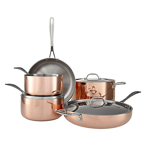 Buy John Lewis Copper Lidded Saucepans Online at johnlewis.com