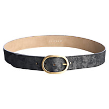 Buy Jigsaw Printed Leather Belt Online at johnlewis.com