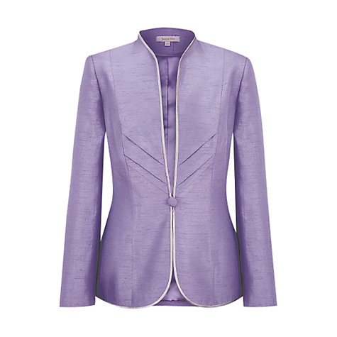 Buy Jacques Vert Chevron Jacket, Purple Lavender Online at johnlewis.com