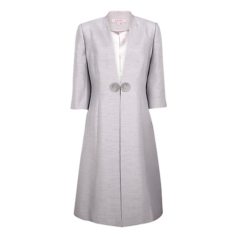 Buy Jacques Vert Shantung Dress Coat, Pebble Online at johnlewis.com
