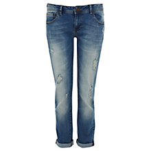 Buy Warehouse Distressed Boyfriend Style Jeans Online at johnlewis.com