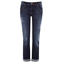 Buy Warehouse Distressed Boyfriend Jeans, Dark Wash Denim Online at johnlewis.com