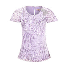 Buy Jacques Vert Swirl Spot Print Blouse, Purple Online at johnlewis.com