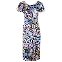 Buy Jacques Vert Print Wrap Dress, Purple Online at johnlewis.com