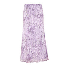 Buy Jacques Vert Swirl Spot Skirt, Purple Online at johnlewis.com