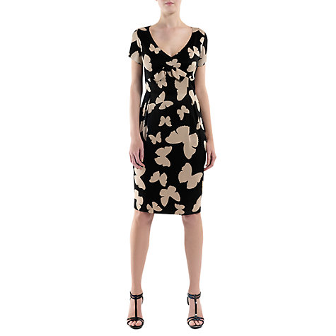 Buy Havren Printed Bow Dress, Black Online at johnlewis.com