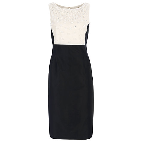Buy Havren Beaded Flower Dress, Black Online at johnlewis.com