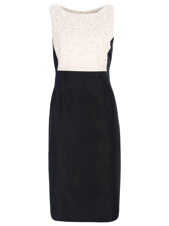 Havren Beaded Flower Dress, Black