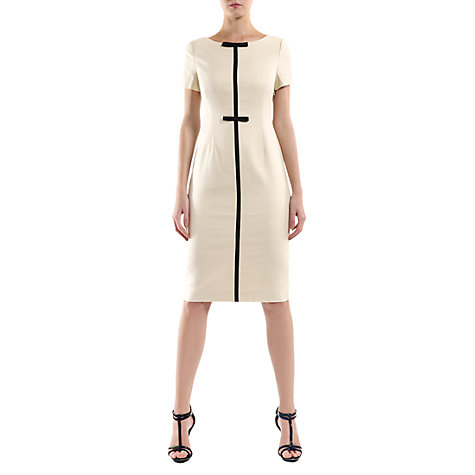 Buy Havren Black Bow Dress, Cream Online at johnlewis.com