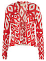 Buy Havren Aztec Print Cardigan, Lipstick, 10 Online at johnlewis.com