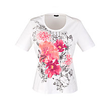 Buy Gerry Weber Butterfly Print T-Shirt, White Online at johnlewis.com