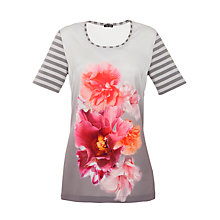Buy Gerry Weber Satin Front Floral Print T-Shirt, Multi Online at johnlewis.com